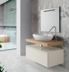 Colección PROYECTOS de SCS BATH. Colección desarrollada para que el profesional pueda proyectar totalmente a medida en base a las exigencias de cada proyecto combinando encimeras, cajones bajo encimeras y auxiliares con un sinfín de lavabos de apoyo. #lavabos #design #inardi