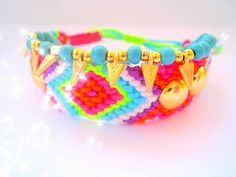Colorful, bright, and fun!  Friendship Bracelet Neon Multicolor by TheTreeOfHappiness, $22.50