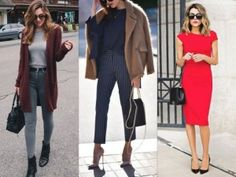 These Non-Boring Casual Spring Work Outfits ideas will definitely help you in deciding the best work looks this spring. Casual Dress Outfits, Trendy Dresses, Fashion Outfits, Skirt Outfits, Blazer Outfits, Winter Skirt Outfit, Winter Outfits For Work, Spring Outfits, Fashion Tips For Women