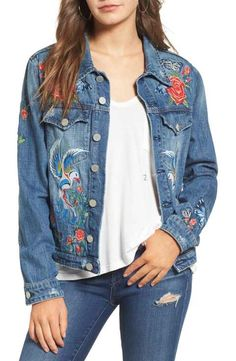 BLANKNYC Embroidered Denim Jacket