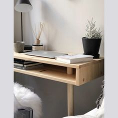 Muuto - Tip LED Tischleuchte, kupfer braun Office Desk, Home Office, Living Spaces, Living Room, Other Rooms, Floating Nightstand, Sweet Home, Shelves, Storage
