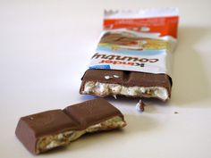 """I wasn't sure what to make of Kinder Country, which was described on the wrapper as """"milk chocolate with rich milk filling. Chocolate Brands, Chocolate Shop, Maltesers Chocolate, Nostalgic Candy, Fast Good, Candy Companies, Chocolate Heaven, Milkshake, Sweet Recipes"""