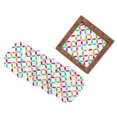 Aimee St Hill Colour Block Coaster Set | DENY Designs Home Accessories #DENYholiday #blackfridaysale #christmasgifts