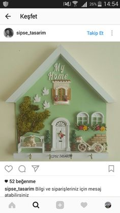 Popsicle Crafts, Craft Stick Crafts, Wood Crafts, Diy Arts And Crafts, Hobbies And Crafts, Doll House Crafts, Diy Wall Art, Wall Decor, Clay Art Projects