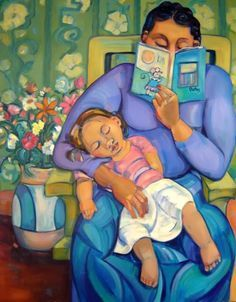 20 Powerful Paintings Of Parents Reading To Children