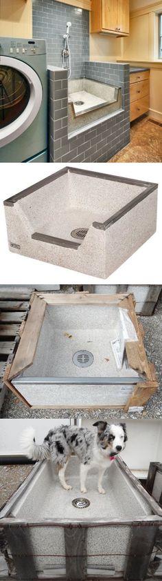 Other Dog Grooming 177794: Pet Washing Station Sink Shower Basin Terrazzo  Ware Concrete  U003e