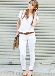 monday in white. Look estilo Minimal 2014.