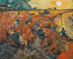 Titulo de la imágen Vincent Van Gogh - Viñedos rojos en Aries