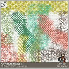 CU Ornate Brush Pack 4 by Courtney's Digi Scrappin' at ScrapArtStudio.com