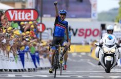 Daniel Martin (Garmin-Sharp) outsprinted Jakob Fuglsang (Astana) to win stage 9 in Bagnères-de-Bigorre