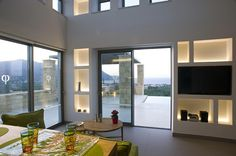 Lounge area Greek House, Luxury Villa Rentals, Lounge Areas, Small Towns, Greece, Building, Home, Design