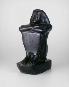 Egyptian    Statuette of Shebenhor, Saite Period, Dynasty 26, (664–525 B.C.)    Stone