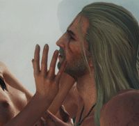 """""""…The words they had uttered broke off, perished among the sighs and quickened breaths, ceased to have any meaning and were dissipated. So they remained silent, and focused on the search for one another, on the search for the truth. They searched for. Yennefer Of Vengerberg, Geralt Of Rivia, Witcher 3 Wild Hunt, The Witcher 3, Fire Emblem Fates, Fan Page, Cgi, Videogames, Nerdy"""