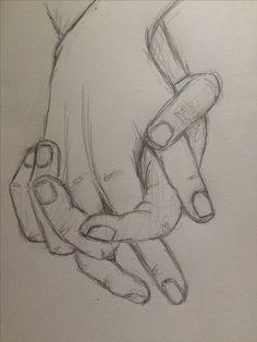 Practice sketch holding hands 4  - pinkishcoconut