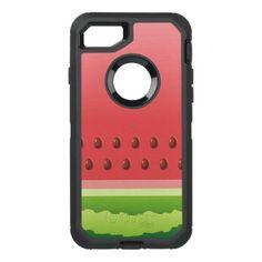 Watermelon Background OtterBox Defender iPhone 7 Case