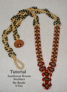 PDF Beading Tutorial Beaded Necklace Tutorial PDF by mybeads4you