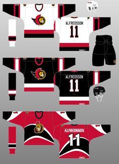 Ottawa Senators - The (unofficial) NHL Uniform Database Hockey Sweater, Nhl Jerseys, Ottawa, Cool Photos, The Past, In This Moment, Logos, Classic, Christmas