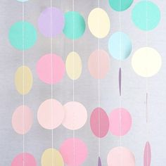 Unicorn Pastel Circle Garland Party Decoration Paper Dots Banner- Le Petit Pain