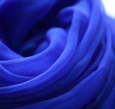 Royal Blue Silk Scarf Blue Scarf Crepe Silk by scarfarts on Etsy, $28.50