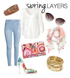 """""""Spring """" by lucie-porcheron ❤ liked on Polyvore featuring Christian Louboutin, Vera Bradley, ABS by Allen Schwartz, cutecardigan and springlayers"""