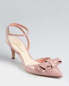 Blush kitten heels with bow detail...SO SWEET!!