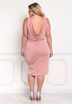 Plus Size Clothing | Plus Size Faux Wrap Hi-Lo Dress | Debshops