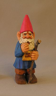Gnome Hand carved in Wood by Russell Scott by ScottCarvings