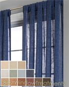 Belgique Curtain Panel available in 13 colors.... But this one looks like sheer denim