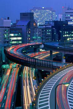 Tokyo Japan Highway iPhone Wallpaper