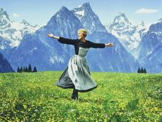 A sing and dance routine in the Alps much like Maria here