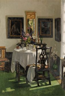 Patrick William Adam (Scottish, 1854-1929) - The breakfast room, Ardilea