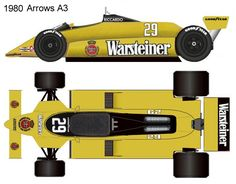 1980 Arrows A3 formula 1 Auto Vintage, Blueprint Drawing, Ground Effects, Mclaren Mp4, Formula One, Arrows, A3, Race Cars, Automobile