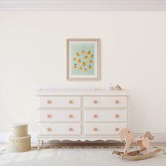 Mint Kitchen Walls, Kitchen Wall Art, Nursery Prints, Wall Art Prints, Mint Background, Fruit Print, Beautiful Artwork, Girl Nursery, Future House