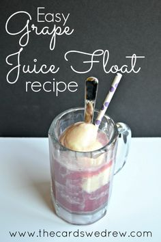 Grape Juice Ice Cream Floats - The Cards We Drew