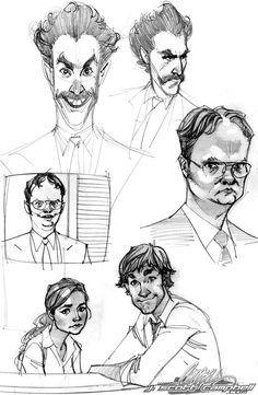 The Office and Borat Sketches by *J-Scott-Campbell on deviantART