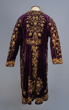 Turkish Velvet Coat with Gold Embroidery,circa late19th century