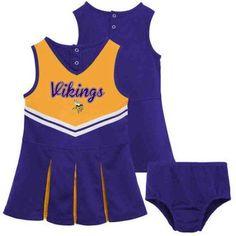 NFL Minnesota Vikings Toddler Cheerleader Set, Toddler Girl's, Size: 12M, Purple