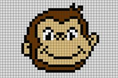 Curious George Pixel Art from BrikBook.com #CuriousGeorge #monkey #George…