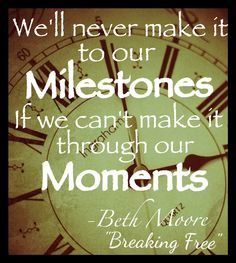 The moments seem so small compared to the milestones we've seen.