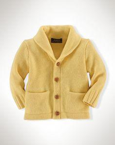 Cashmere Shaw-Collar Cardigan - Baby Boy Sweaters - RalphLauren.com