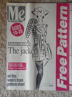 Vintage ME Make It Dressmaking Pattern Ladies The Autumn Jacket sizes 10 - 20   eBay