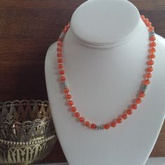 Orange Cats Eye Toggle Clasp Necklace £8.00
