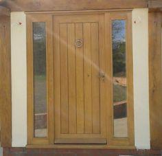 Solid Oak Front Door, Custom Made to your requirements and design. Oak Front Door, House Front Door, Contemporary Front Doors, Door Accessories, Front Entrances, Wooden Doors, Solid Oak, Tall Cabinet Storage, Furniture