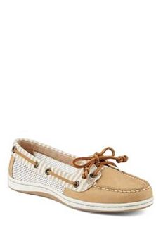 58a57e1b03c7 Sperry Top-Sider Firefish Stripe Mesh Boat Shoe for Women in Sand Sperry  Shoes