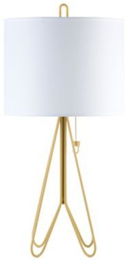 Lights Up! Flight Dark Yellow White Contemporary Table Lamp by Euro Style Lighting