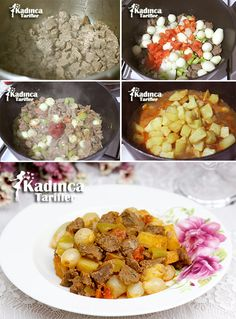 Arpacık Soğanlı Tas Kebab Recipe How? - Female recipes - Delicious, practical and delicious . Turkish Recipes, Italian Recipes, Ethnic Recipes, Turkish Kitchen, Italian Chef, Kebab Recipes, Dried Beans, Kebabs, Iftar