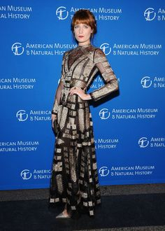 Florence Welch of Florence & The Machine makes her ceremonious appearance at the Museum Gala at the American Museum of Natural History on Nov. 21 in New York