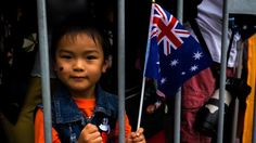 Melbournians enjoy the Australia Day Parade in Swanston St Melbourne on January 2017 in Melbourne, Australia. Australia Day, Melbourne Australia, Bbc News, January 26, Asian, Country, World, Posts, Twitter