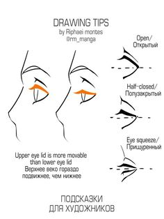 Anatomy Drawing Reference Drawing Tips- Eyes/Eyelids - Eye Drawing Tutorials, Drawing Tutorials For Beginners, Drawing Techniques, Drawing Tips, Art Tutorials, Drawing Sketches, Eye Drawings, Comic Drawing, Drawing Drawing