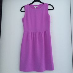 JCREW orchid silk dress size 2 JCREW silk dress in a beautiful orchid purple. Gorgeous stitched detailing at waist and darted bust. Great for work, play, or any event! J. Crew Dresses